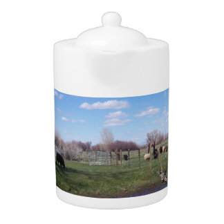 Livestock Landscape Teapot