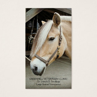 Livestock Large Animal  Horse Veterinarian Clinic Business Card