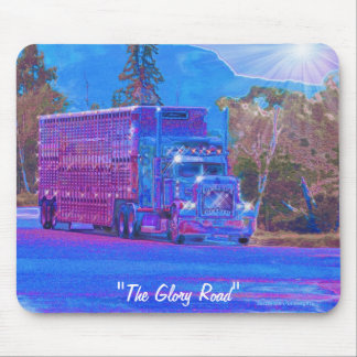 Livestock Truck Highway Driving Art Mousepad