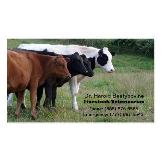 Livestock Veterinarian or Cattle Services Card Business Card