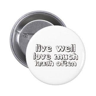 LiveWellLaugh 2 Inch Round Button