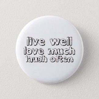 LiveWellLaugh Pinback Button