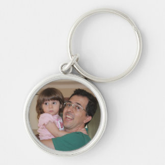 Lívia and uncle Julio Keychain