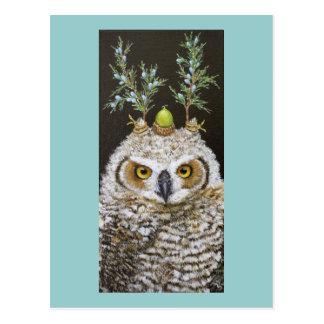 Livia la gran postal de cuernos del owlet