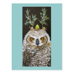 Livia the great horned owlet postcard