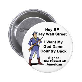 Livid American Pinback Button