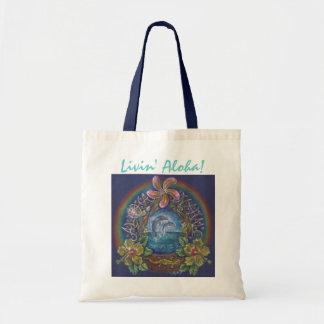 Livin Aloha Tote Canvas Bags