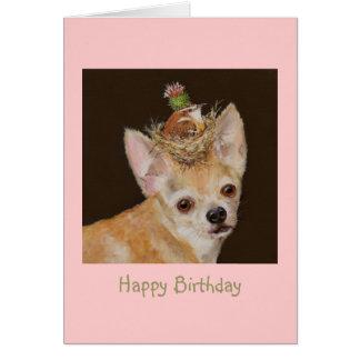 Livin alto en el perro con la tarjeta del Gus y de