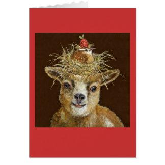 Livin alto en la tarjeta de la cabra