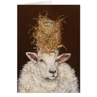 Livin alto en la tarjeta de las ovejas