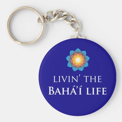 Livin' Bahá'í Life Key Chain