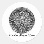 Livin en tiempo maya pegatinas