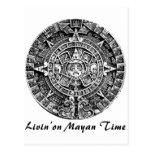 Livin en tiempo maya tarjeta postal