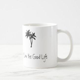 Livin la buena vida, palmas taza clásica