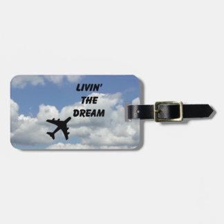 Livin la etiqueta de la identificación del sueño etiquetas maletas