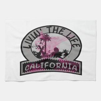 Livin la vida de California Toallas De Cocina