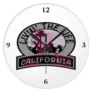 Livin la vida de California Reloj Redondo Grande