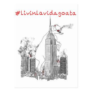Livin La Vida Goata Giant Goat New York Animal Art Postcard