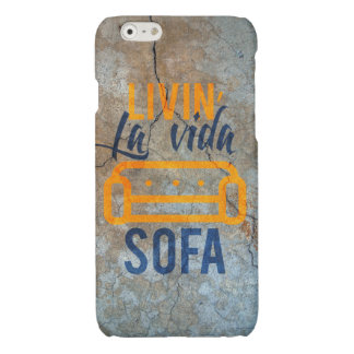 Livin' la vida sofa glossy iPhone 6 case