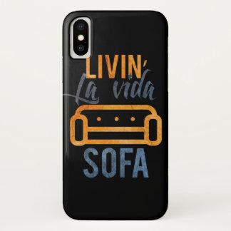 Livin' la vida sofa iPhone x case
