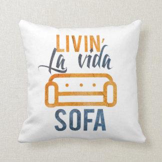 Livin' la vida sofa throw pillow