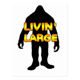 Livin' Large Bigfoot Postcards