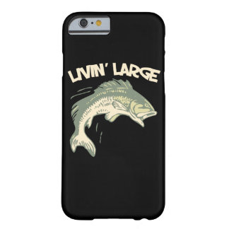 Livin large largemouth bass fishing barely there iPhone 6 case