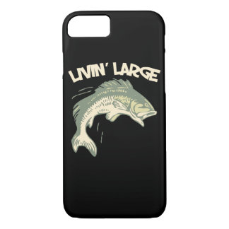 Livin large largemouth bass fishing iPhone 7 case