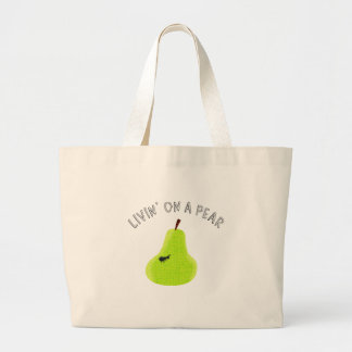 Livin On A Pear Tote Bags