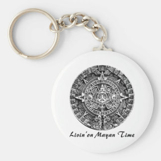 Livin' on Mayan Time Keychains