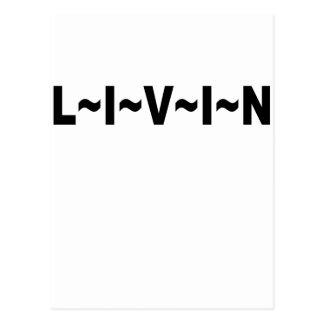 LIVIN SHIRT.png Post Card