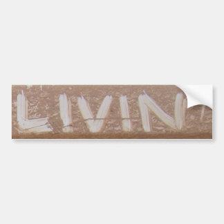 Livin'  'Tailgate Talk' Bumper Sticker