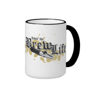 Livin' the Brew Life Ringer Coffee Mug