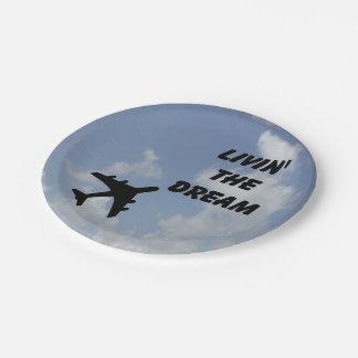 Livin' the Dream paper plates