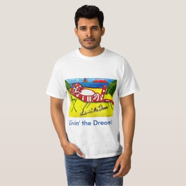 Beach Themed Livin' the Dream T-Shirt