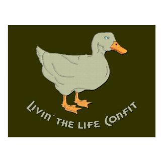 Livin' the Life Confit Postcard