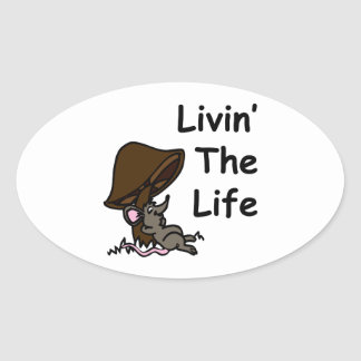 Livin' The Life Oval Stickers