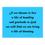 living a life of blessing post card