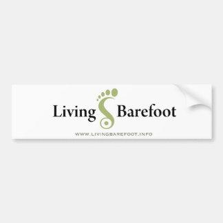 Living Barefoot Bumper Sticker