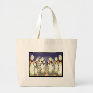 Living Bowling Pin Will Funny Gifts Tees Cards Etc Large Tote Bag