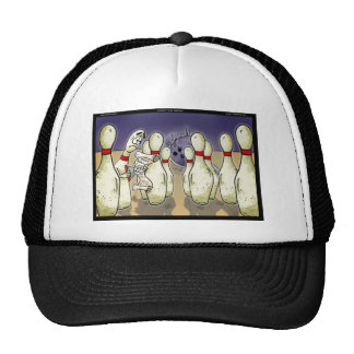 Living Bowling Will Funny Gift, Tees, Cards Etc Trucker Hat