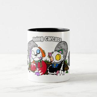 living carcass…. Two-Tone coffee mug