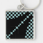 Living Checkered Flag 8 Large 1 Small Keychains