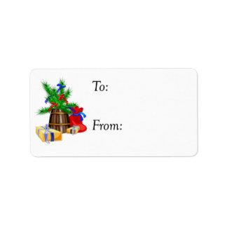 Living Christmas Tree Gift Tag