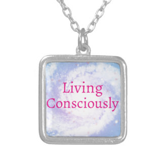 Living Consciously Silver Plated Necklace