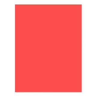 Living Coral Orange Salmon Pink Color Postcard