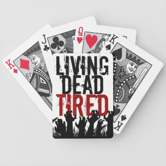 Living Dead Tired Playing Cards