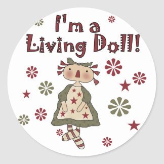 Living Doll Classic Round Sticker