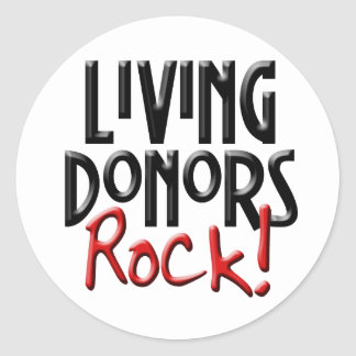 Living Donors Rock Sticker