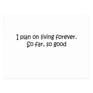 Living Forever quote Postcard
